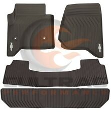 2015-2018 Tahoe Suburban GM Front & 2nd & 3rd Row All Weather Floor Mats Cocoa