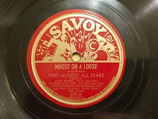 VIDO MUSSOS All Stars on Savoy 599 Moose on a Loose Modern Jazz Bebop 78 E*