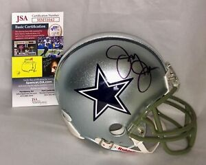JERRY JONES SIGNED DALLAS COWBOYS MINI HELMET JSA AUTHENTICATED MM51042
