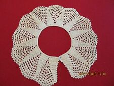 Vintage 80's Crocheted Points of Lace Collar