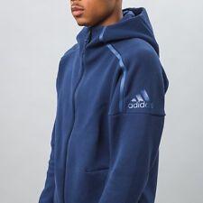 Men's Adidas ZNE Hoodie Zip Up S94806 Med Navy  Zero Negative Energy MSRP $100