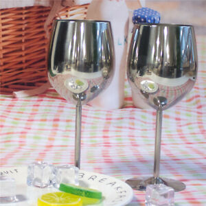 2Pcs Stainless Steel Wine Glass Bar Wine Glass Charms Alcohol Cocktail Drinkware