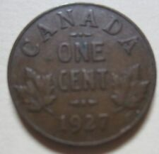 1927 Canada Small Cent Coin. SEMI KEY DATE