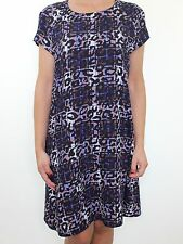 RIVER ISLAND leopard animal check print smock dress size 14
