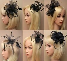 Ascot/Races/Funeral/Prom Black Hair Flower/Hat Fascinator Clip/Comb/Headband