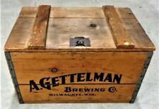 "Vintage 1933 A. Gettelman Brewing ""$1000 Beer"" Wooden Beer Case, Milwaukee, Wisc"