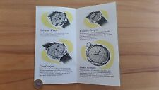 UNIVERSAL GENEVE 1950 catalogue livret tri compax Chronographes Time plus Reprint