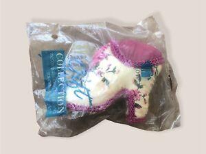 Avon Victorian Sewing Accessories Heels Shoe Floral Pin Cushion NIP