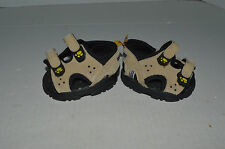 Build A Bear Shoes~Sandals~Beige & Black~Yellow Paw Print On Strap