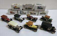 Lot of 7 Wondrie Metal Products Miniature Car, w/ Box Victoria, Model T & Others