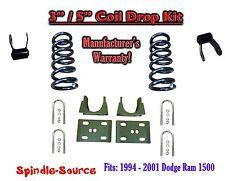"1994 - 2001 Dodge Ram 1500 V8 EXT Cab 2WD 3"" / 5"" Drop Lowering Kit Coils"