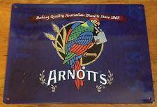 Arnotts Metal Tin Sign Plaque Advertising, Kitchen Blue