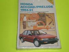 1984-1991 HONDA ACCORD / PRELUDE CHILTON REPAIR MANUAL NEW IN FACTORY WRAPPER