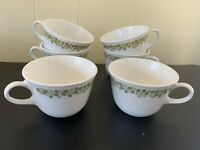 Vintage Set of 6 Corelle Corning Spring Blossom Crazy Daisy Coffee Tea Cup Mugs