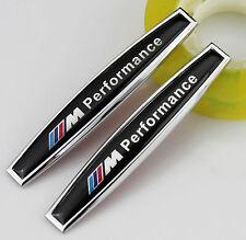 2pcs Auto Car Metal Fender Badges Sticker Emblems Decal Fit for M Performance