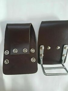 2pc Brown Leather knipex plier Holder Snip Cutter Tool Holder 4 Tools Belt