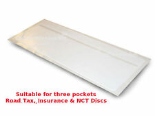 1 x New Car Van  Road Tax,  Insurance  NCT Disc Holder White - New Wallet Permit