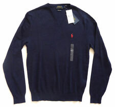 Ralph Lauren Men's Thin Knit V Neck Cotton Jumpers & Cardigans