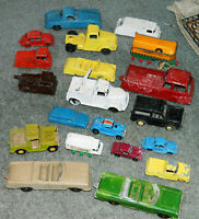Vintage LOT OF 20 OLD DIECAST TOY CARS & TRUCKS TootsieToy & MidgetToy