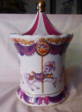 Teleflora Carousel Music Box Candy Jar Container Schmid Musical Movement