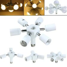 6 in 1 Rotatable E27 Base LED Light Lamp Bulb Adapter Holder Socket Splitter