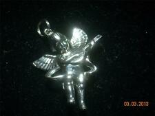 Wholesale Lot # 122 Pewter Big Angel with Guitar Charm Pendant Crafts Key Chain