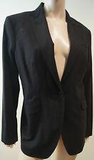 PAUL SMITH black label noir femme laine stretch Formal Blazer Jacket Sz46 UK14