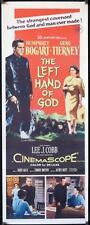 R384  THE LEFT HAND OF GOD insert '55 art of priest Humphrey Bogart holding gun