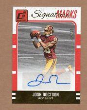 2016 Donruss Signature Marks Josh Doctson Autograph 11/50 Washington Redskins