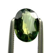 0.73 carat Oval 6.7x4.9mm Green/Yellow Natural Australian Parti Sapphire, OPS55