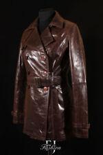 Cappotti e giacche da donna trench marrone in pelle
