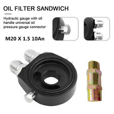 M20 X 1.5 10An Inlet Outlet Oil Filter Cooler Relocate Adapter Sandwich Plate