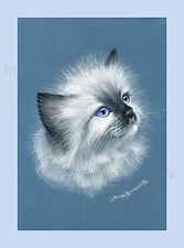 Ragdoll Gato impresión Retrato Por Irina garmashova