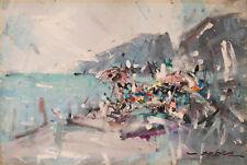 DE CERCE BRUNO - MARINA SPIAGGIA SEASCAPE - Dipinto Originale Olio su Tela