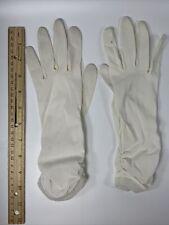 Vintage White Ladies Gloves, Elaborate Ruffles, Silk-like, Very Nice