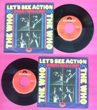 """LP 45 7"""" THE WHO Let's see action When I was a boy 1971 italy no cd mc dvd"""