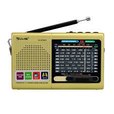 FM/MW/SW World Receiver Emergency Radio Bluetooth Speaker MP3 Player Golden Best