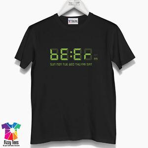 Men's Beer Clock T-Shirt - funny t shirt gift for him