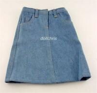 "Clothes for 18"" American Girl Doll Long Blue Denim Skirt with Pockets New"