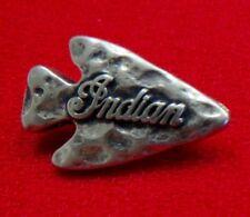 "INDIAN MOTORCYCLE ""ARROWHEAD"" SCRIPT PIN ~ 1"" ~ PINCH CLIP~VERY RARE PRISTINE!"
