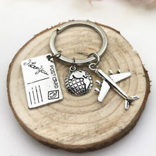 Travel Keyring,Globe and airplane keychain, Travel Gifts