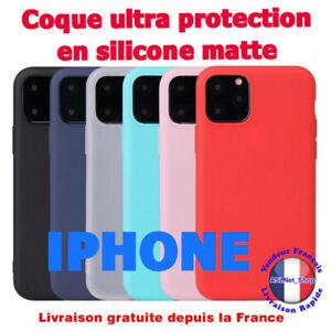 Coque iPhone 11 iPhone 12 Pro MAX MINI SE 2020 X XR XS MAX 7 8 6 en Silicone Mat