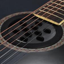 Flanger Fs-08 Guitar Soundhole Sound Hole Cover Block Feedback Buffer Black Z3P5