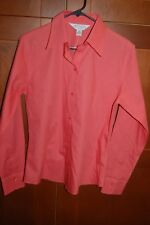 Casual Corner ANNEX Casual Button Down Shirt Peach Size M Women FITTED NWT