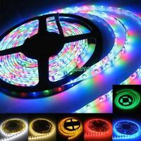 Flexible Strip Lights Fairy Light 5050SMD 1M RGB For Xmas Decor 12V Power Supply