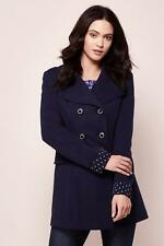 Yumi Double Breasted Ponte Trench Coat Blue Size UK 12 RRP £90 TD074 01 Q