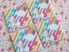 2 x Large Unicorn Rainbow Flatback Planar Resin Embellishment Crafts Hair bow UK
