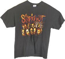 VTG Slipknot Men's Black Heavy Metal Music Band Members Spell Out T-Shirt Sz L
