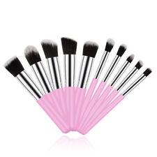 10 Pcs Pro Makeup Brushes Cosmetic Blusher Eye Face Foundation Pencil Brush Kit