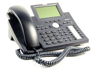 Snom 370 VoIP Telefon SIP POE (ohne Netzteil) Schwarz (leichte Kratzer)